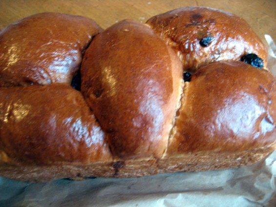West Portal Bakery's Raisin Brioche isn't overwhelmingly sweet. - JONATHAN KAUFFMAN