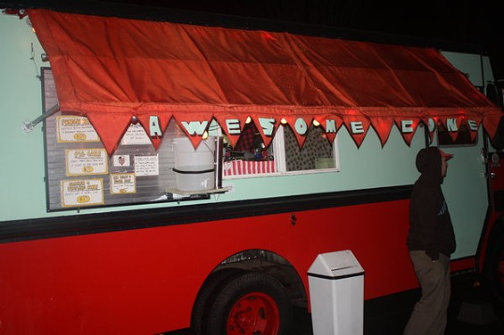 What goes best with beer from a truck? Waffles from the Awesome Cone truck, of course. - BRIAN YAEGER