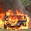 'Excuse Me, Sir -- Your Car's On Fire.' Man's Burning Vehicle Catches Cops' Eye, Leads to Drug, Theft Busts.