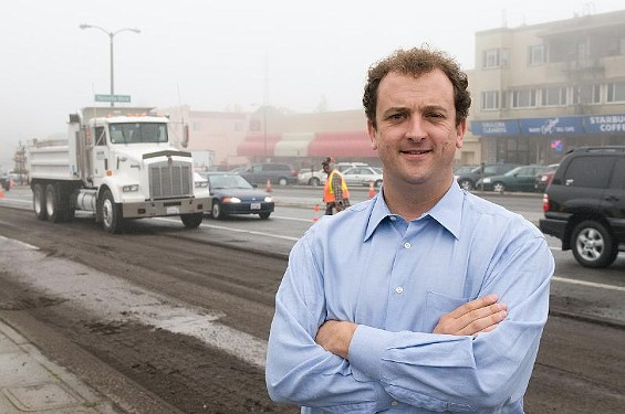 When Sean Elsbernd had this photo taken, he ostensibly wasn't interested in running for higher office. Now he is. Also, watch out for that truck.