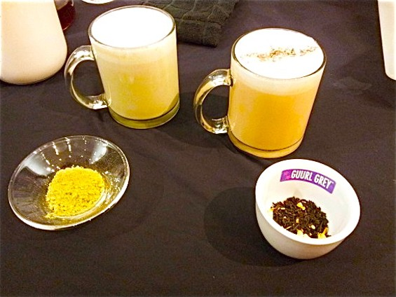 While non-alcoholic, TEA-WE's Lavender London Fog Latte (with Guurl Grey) is delicious. - PETE KANE