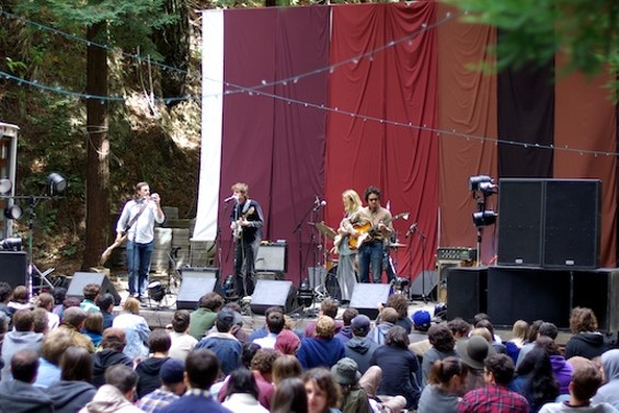 White Fence performing at Woodsist in 2012.