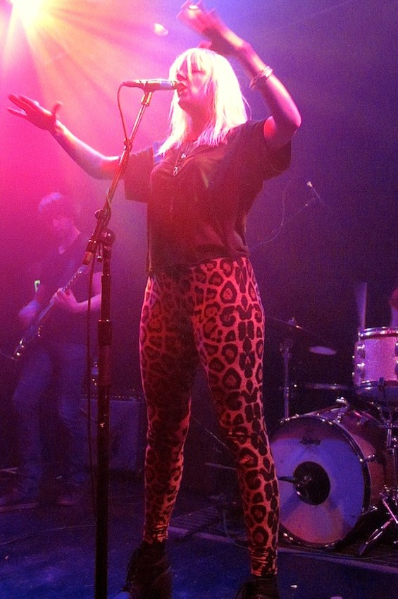 White Lung's Mish Way at the Rickshaw Stop last night. - JESSE TAMPA