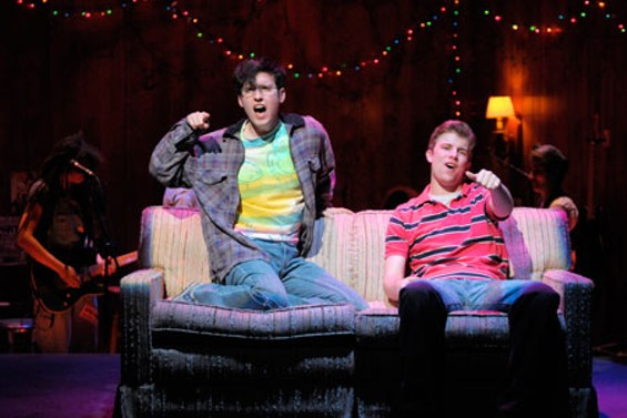 Will (Ryder Bach) and Mike (Jason Hite): Gay boys singing about girls. - KEVINBERNE.COM