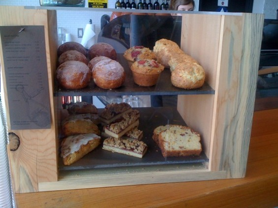 William Werner's pastry case at Coffee Bar.