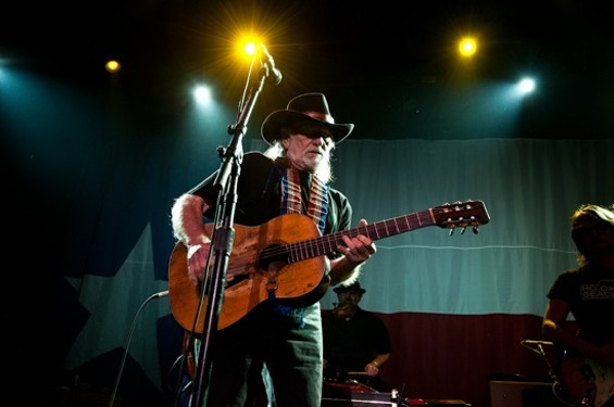 Willie Nelson at the Fillmore last night. - RICHARD HAICK