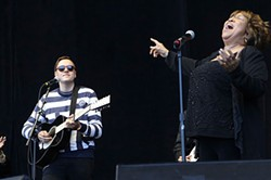 """CHRISTOPHER VICTORIO - Win Butler and Mavis Staples on  """"The Weight."""""""