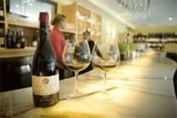 JAMES  SANDERS - WINE Bar & Shop's bar comes from the defunct Hayes & Vine.