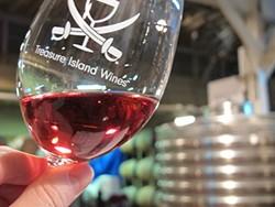 COURTESY OF TREASURE ISLAND WINES - Wine tasting closer than Napa.
