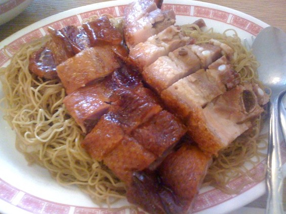 Win's barbecue combo with noodles, $6.50. - WES M./YELP