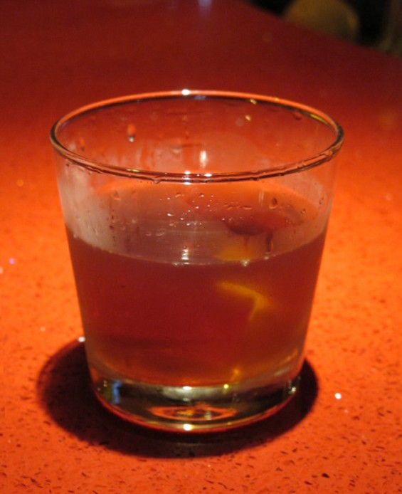 Winter Warmer, a Sazerac variation at Honor Bar - LOU BUSTAMANTE