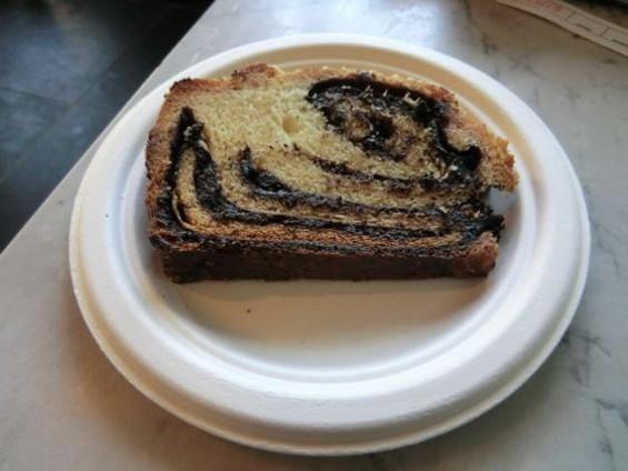 Wise Sons' house-baked chocolate babka, $3. - ALEX HOCHMAN