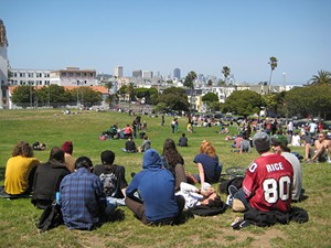 With weekday foot traffic and proximity to the 18th Street food scene, Dolores Park is prime ground for vendors. - PHILLIE CASABLANCA/FLICKR