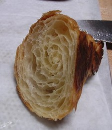Wood's croissants are structural marvels. - JOHN BIRDSALL