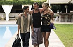 DARREN  MICHAELS - Woof Woof: Bad guys Johnny Truelove (Emile Hirsch), Frankie Ballenbacher (Justin Timberlake), and Angela Holden (Olivia Wilde).
