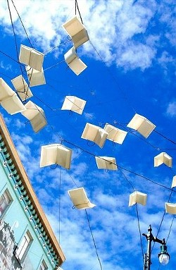 Words take flight. - JUAN DE ANDA/ SF WEEKLY
