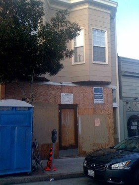 Work on the Bernal Heights storefront began last July. - J. KAUFFMAN