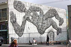 MIKE KOOZMIN - Works like Zio Ziegler's The Dawn of Man are shifting street art from the Mission to mid-Market, one wall at a time.