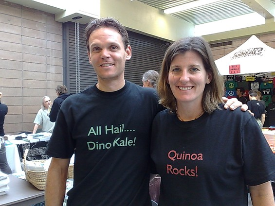 World Veg Fest is a great place to stock up on vegetarian T-shirts. - TAMARA PALMER