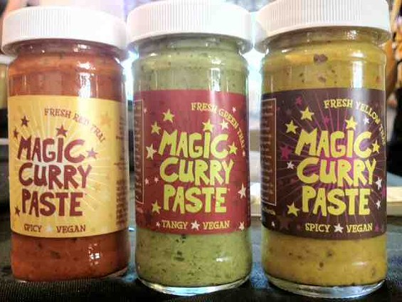 Yellow curry is the newest flavor of Magic Curry Kart paste. - TAMARA PALMER