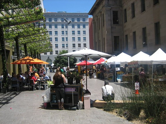 Yesterday was week two for the seasonal Mint Plaza Farmers' market. - MARY LADD