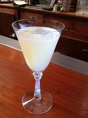 Yesterday's drink: Pisco punch at Comstock Saloon, a nod to National Punch Day. - LOU BUSTAMANTE