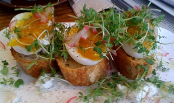 Yesterday's hard-boiled egg at Farm:Table ($6.50). - JONATHAN KAUFFMAN