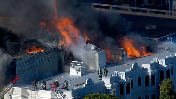 Yikes. We hope everyone got out safely. - @ABC7NEWSBAYAREA