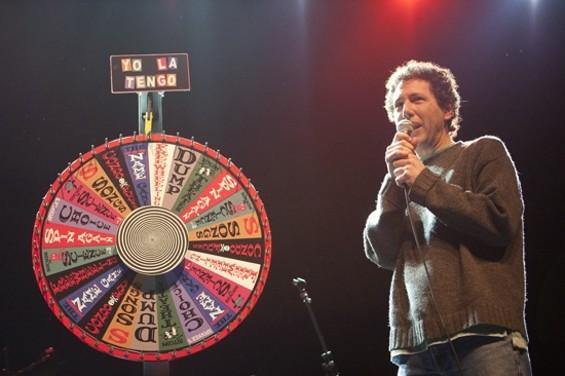 Yo La Tengo and the Wheel of Destiny at the Fox last night. - CHRISTOPHER VICTORIO