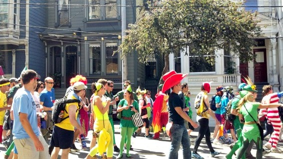You need strength to continue along the route during Bay to Breakers. - FLICKR/A NATIONAL ACROBAT