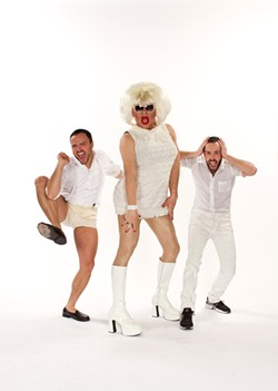 KENT TAYLOR - Your Daytime Realness hosts at El Rio: Heklina (center), Stanley Frank (left), and DJ Carnita (right).