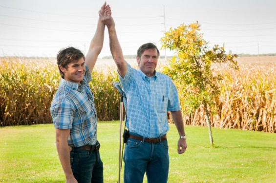 Zac Efron and Dennis Quaid in At Any Price