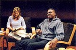 KEVIN  BERNE - Zero Ground: Because the actors rotate - (pictured here - are Sharon Lawrence and Keith David), - they often - perform with script in hand.
