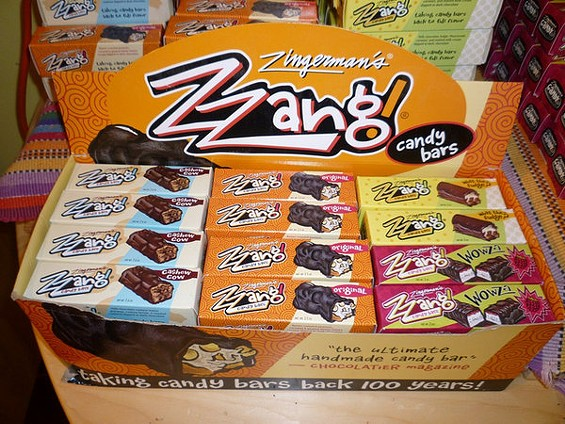 Zzang premium candy bars, available at Bi-Rite, Whole Foods, Canyon Market, and Cheese Plus. - ALEX HOCHMAN