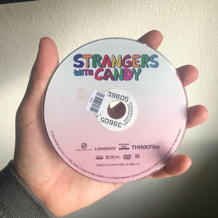 Im worried the brown mark on this DVD is poop.