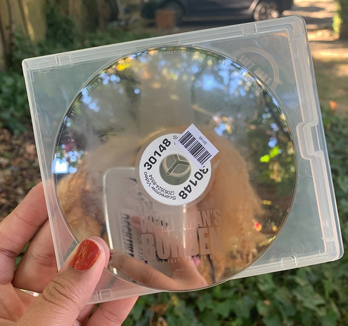 A DVD out in nature.