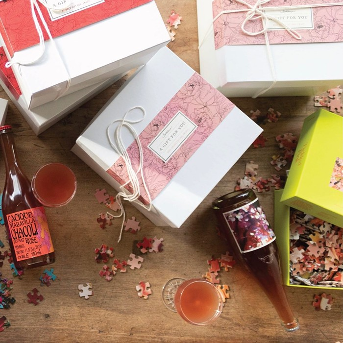 Madronas Bottlehouse has the ticket for a laid-back evening with your valentine: curated kits with a bottle of wine and a matching jigsaw puzzle, available in-store and for pickup or local delivery.