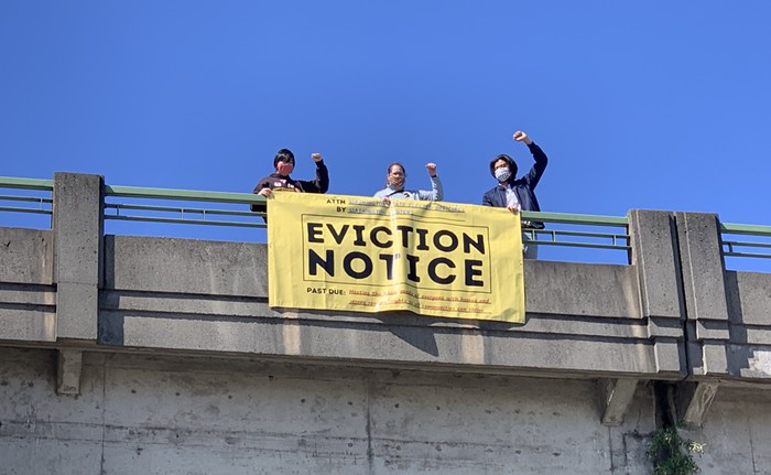 Tenant advocates threaten to evict lawmakers who dont prioritize renters well-being.