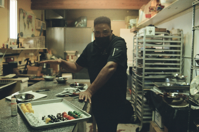 Chef Poole in his kitchen.