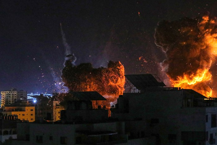 Israel continues to bomb the neighborhoods of Gaza, killing over 200 people and displacing thousands.
