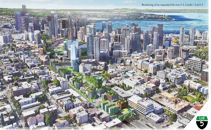 Looking south-ish towards downtown at what Seattle would look like if it was a real city.
