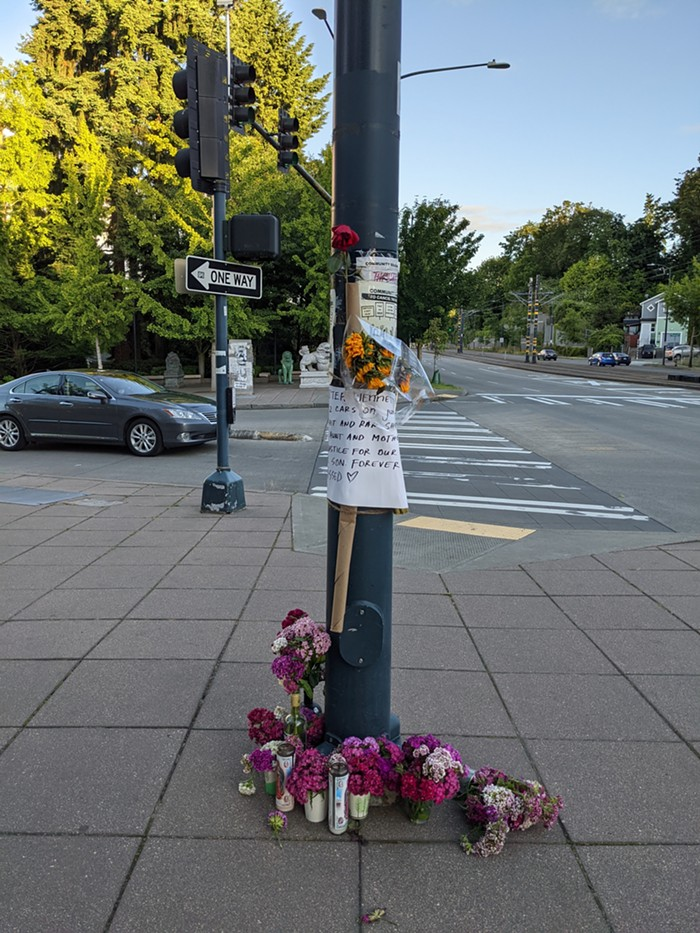 The woman run over by a huge SUV on June 6 is, the SPD believes, still alive.