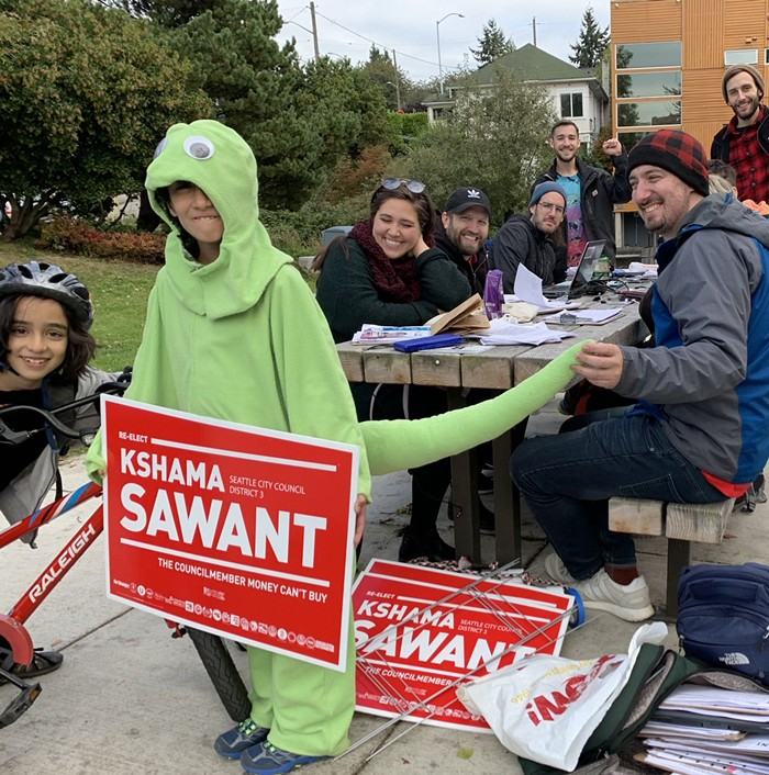 I shouldve asked if Salamanders for Sawant was recruiting new members.