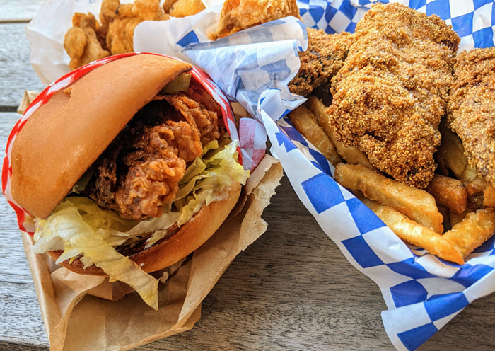 The Barn Burner and a fried catfish meal (Fridays only!)