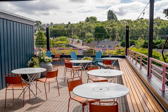 Flora Bakehouse in Beacon Hill opened its new rooftop patio this week.