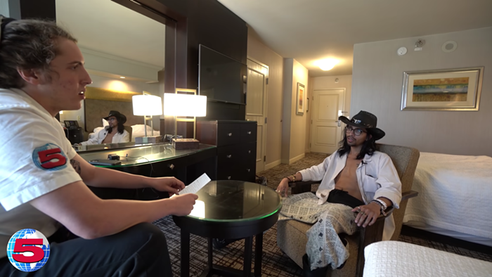 Callaghan speaks with a self-proclaimed pick-up artist in Las Vegas