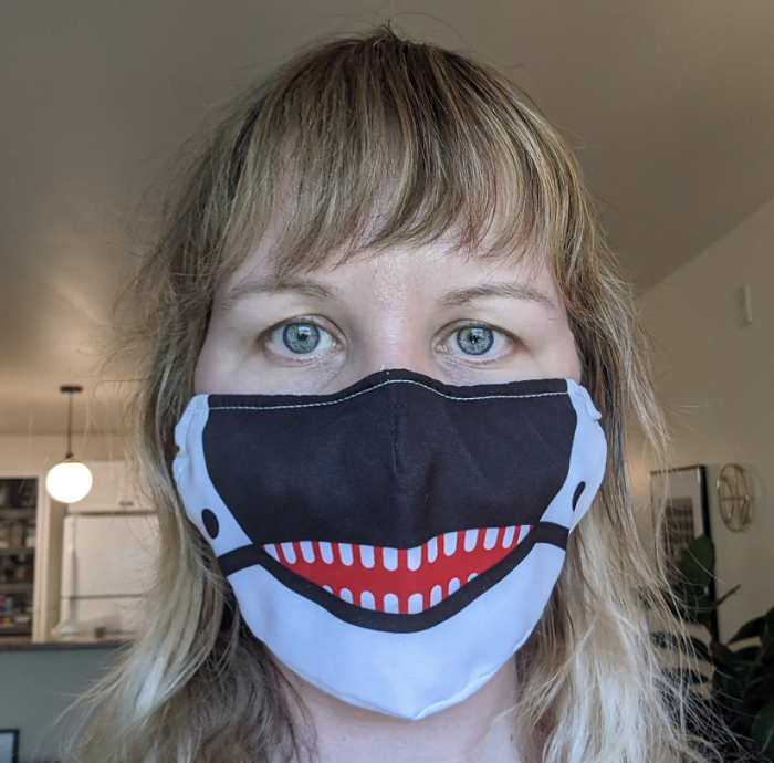 Maybe try an orca mask?