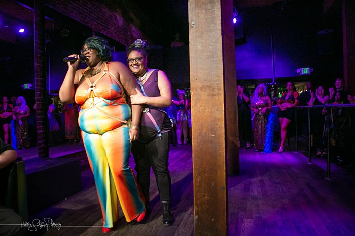 Rebecca Mm Davis and Mx. Pucks APlenty Opening Night What the Funk 2019 at Queer Bar Seattle
