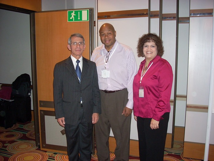 From L to R, Dr. Anthony Fauci, Fomer External Relations Director at Fred Hutchinson Wakefield, and Senior Community Engagement Project Manager at Fred Hutchinson Gail Broder.