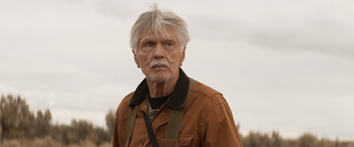 Tom Skerritt on a walk in EAST OF THE MOUNTAINS.